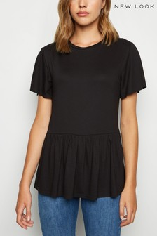New Look Crepe Peplum T-Shirt