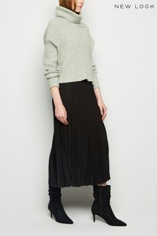 New Look Pleated Midi Skirt