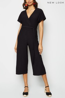 New Look Crinkle Wrap Jumpsuit