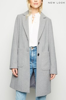 New Look Revere Collar Coat