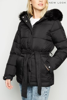 New Look Belted Padded Jacket