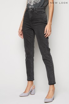New Look Washed Waist Enhance Slim Mom Jeans