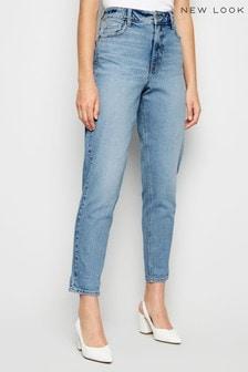 New Look Washed Waist Enhance Slim Mom Jeans