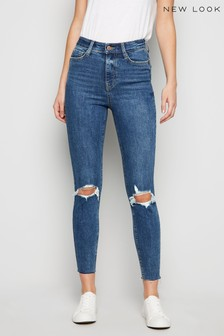 New Look Lift & Shape Ripped Knee Skinny Jeans