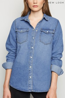 New Look Denim Long Sleeve Shirt