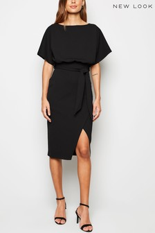 New Look Batwing Belted Midi Dress