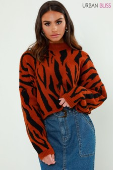 Urban Bliss Zebra Print Jumper