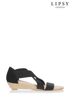 Lipsy Cross Strap Espadrille Low Wedge