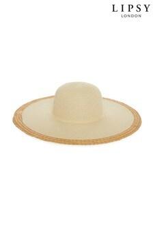 Lipsy Natural Straw Floppy Hat