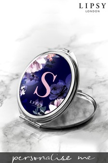 Personalised Lipsy Round Compact Mirror By Treat Republic
