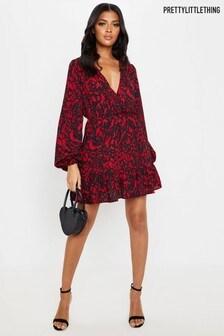 PrettyLittleThing Animal Print Mini Dress