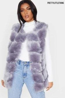PrettyLittleThing Bubble Fur Gilet