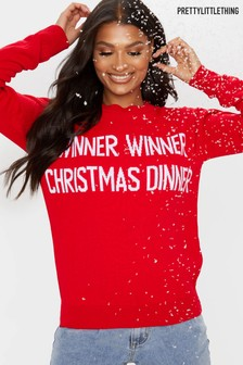 PrettyLittleThing Knitted Christmas Jumper
