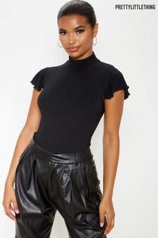 PrettyLittleThing Frill Shoulder Bodysuit