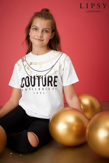 Lipsy Girl Couture Necklace T-Shirt