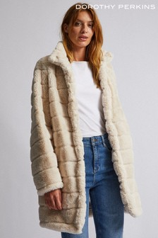 Dorothy Perkins Long Line Fur Coat