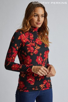 Dorothy Perkins Floral Print Roll Neck Top