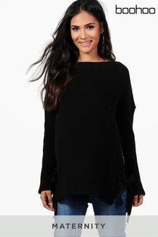 Boohoo Maternity Tie Side Jumper