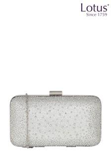 Lotus Diamante Handbag With Clasp Detail
