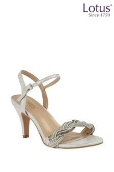 Lotus Jewelled Ankle Strap Sandals