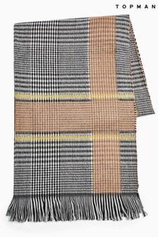 Topman Check Blanket Scarf