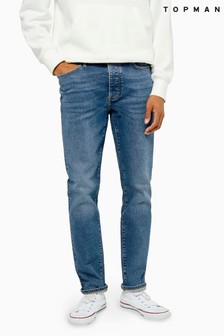 Topman Mid Wash Slim Jeans