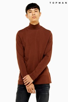 Topman Roll Neck T-Shirt