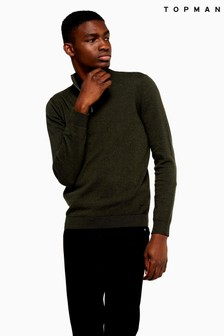 Topman Zip Turtle Neck Jumper