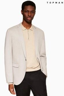 Topman Skinny Fit Notch Lapels Jersey Single Breasted Blazer