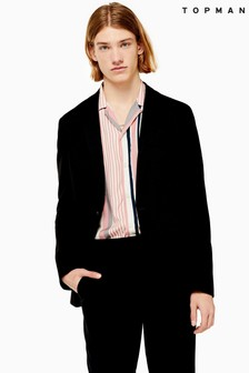 Topman Skinny Fit Notch Lapels Jersey Single Breasted Blazer