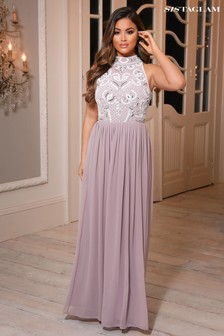 Sistaglam Embellised Maxi Dress