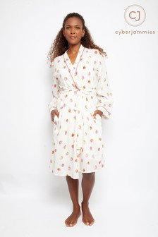 Cyberjammies Sophia Strawberry Print Short Robe
