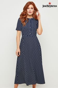 Joe Browns Bubble Crepe Polka Dot Dress