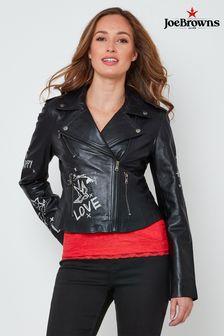 Joe Browns Risk Taker Leather Jacket