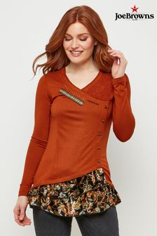 Joe Browns Sumptuous Velvet Trim Top