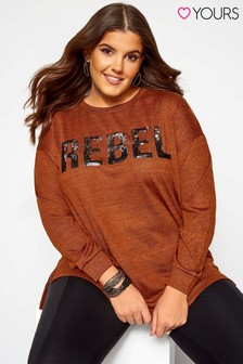 Yours Flock Rebel Slogan Sweatshirt