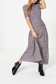 Topshop Je T'aime Tiered Midi Dress