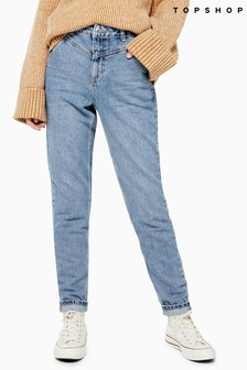 "Topshop V-Panel Mom Jeans 30"" Leg"