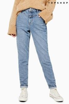 "Topshop V Panel Mom Jeans 32"" Leg"