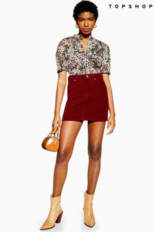 Topshop Corduroy Mini Skirt