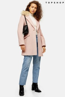 Topshop Herringbone Coat