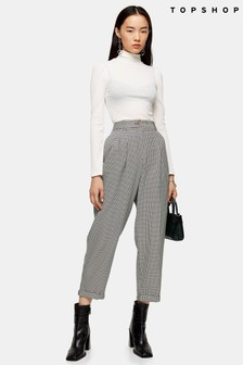 Topshop Houndstooth Ovoid Trousers