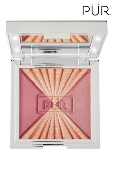 PÜR Out of the Blue 3in1 Vanity Blush Palette Beam of Light Light