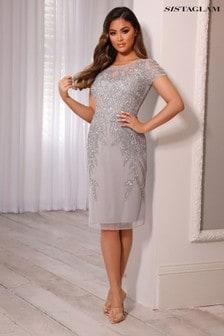 Sistaglam Embellsihed Mini Dress