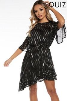 Quiz Flute Sleeve Dress