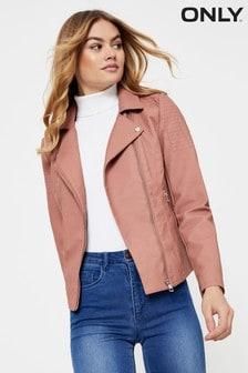 Only Faux Leather Biker Jacket