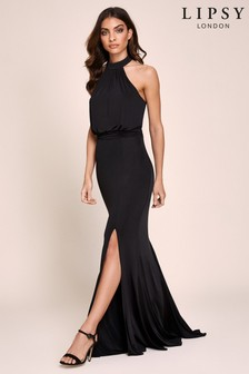 Lipsy Halter Slinky Maxi Dress