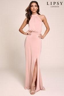 Lipsy Halter Slinky Maxi Dress