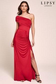 Платье макси на одно плечо Lipsy