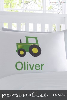Personalised Tractor Pillowcase By Gift Collective